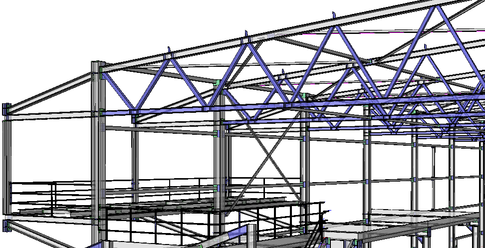 Steel detailing in parabuild easy 3d modelling with Roof drawing software