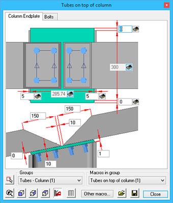 Connection design using Parabuild: steel detailing software