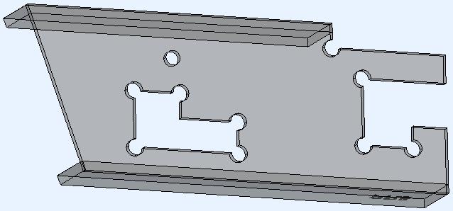 Het voorbeeld 3D-model gegenereerd met de inkeping hoek type Corrner arc ingeschakeld