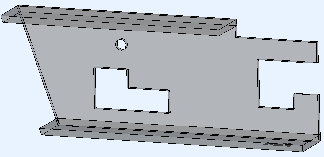 This is the example 3D model that incorporates the 3 different cut types. This is the original unmodified model thus generated with the notch corner typeNone