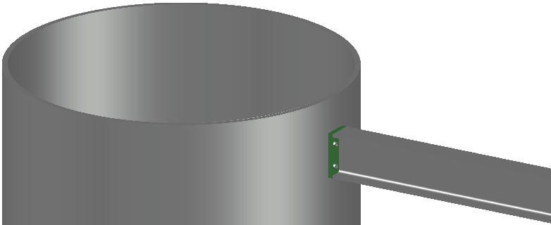 Example of an endplate drawn against a cylindrical profile